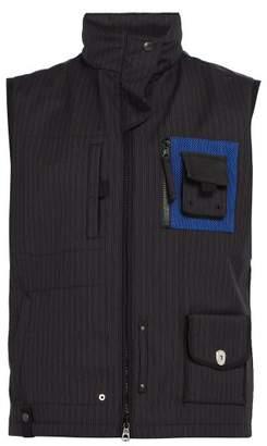 Lanvin Hooded Wool Gilet - Mens - Navy