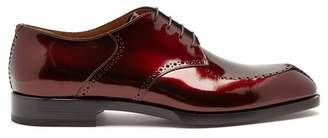 Christian Louboutin A Mon Homme Patent Leather Brogues - Mens - Red