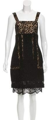 Oscar de la Renta Sleeveless Woven Dress