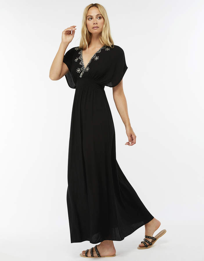 Ophelia Embroidered Maxi Dress