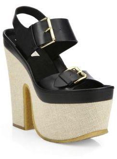 Stella McCartney Buckle Faux-Leather Sandals
