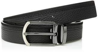 Bugatchi Men's Solid Fashion Leather Belt