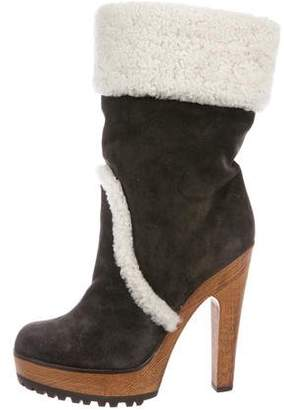 Dolce & Gabbana Mid-Calf Suede Boots