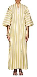 Thierry Colson Women's Rachel Striped Cotton Long Caftan - Kaki