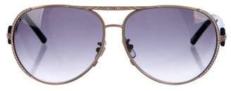 Chopard Embellished Aviator Sunglasses