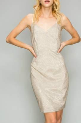 AAKAA Metallic Cocktail Dress
