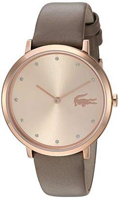 Lacoste Women's Moon Stainless Steel Quartz Watch with Leather Strap