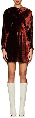 A.L.C. Women's Marin Velvet Fitted Dress - Rust
