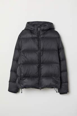 H&M Hooded Down Jacket - Black