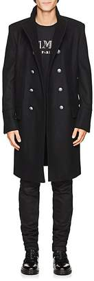 Balmain Men's Wool-Cashmere Double-Breasted Military Coat