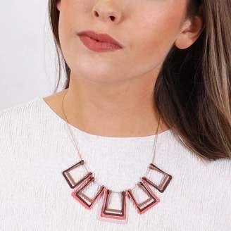 Lisa Angel Geometric Layered Squares Necklace