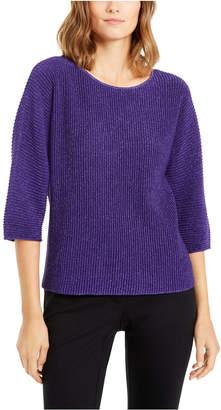 Alfani Metallic Ribbed-Knit Sweater
