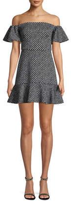 Saloni Amelia Off-the-Shoulder Minidress