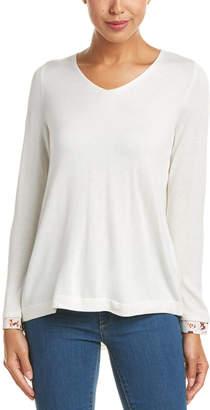 NYDJ Petite Mixed Media Sweater