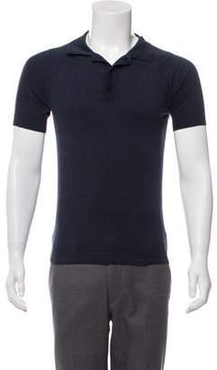 John Galliano Knit Short Sleeve Polo shirt