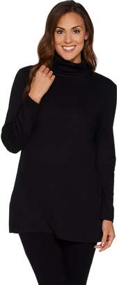 Denim & Co. Essentials Turtleneck Knit Tunic with Side Slits