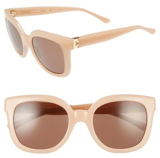 Women's Tory Burch 54Mm Cat Eye Sunglasses - Blush $175 thestylecure.com