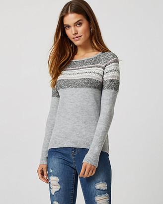 Le Château Fair Isle Knit Boat Neck Sweater
