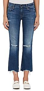 J Brand Women's Selena Distressed Crop Flared Jeans-Md. Blue