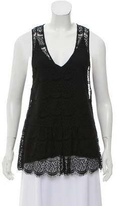 Marissa Webb Sleeveless Lace Top
