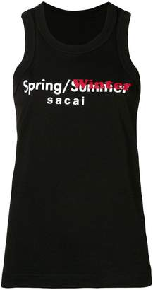 Sacai Spring/Winter tank top