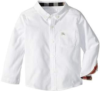 Burberry M Fred Pocket Check SBM Top Boy's Clothing