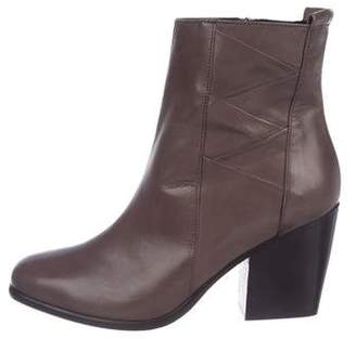 Alberto Fermani Leather Round-Toe Ankle Boots w/ Tags