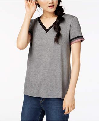 Hippie Rose Juniors' Football Stripe T-Shirt