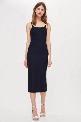 Topshop Buckle Strap Detail Midi Dress