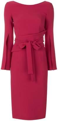P.A.R.O.S.H. slim-fit tie waist dress