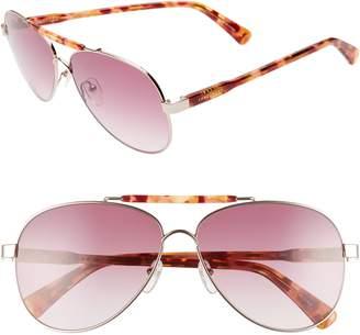 e4d8d25b9e Longchamp Le Pliage 61mm Aviator Sunglasses