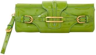 Jimmy Choo Green Patent leather Clutch bags