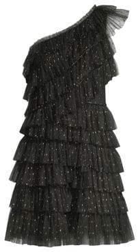 BCBGMAXAZRIA Woven Ruffle Dress