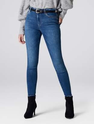 Forever New Poppy Mid Rise Ankle Grazer Jeans - Dark Blue - 04L32