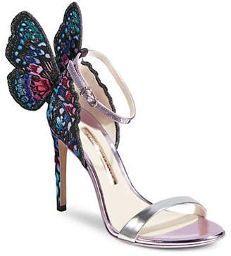 Sophia Webster Chiara Embroidered Ankle-Strap Sandals
