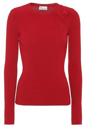 RED Valentino Rib-knit bow sweater