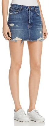 J Brand Bonny Denim Mini Skirt in Hoxton $178 thestylecure.com