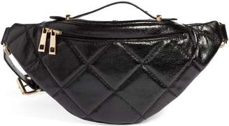 BP Quilted Faux Leather Belt Bag
