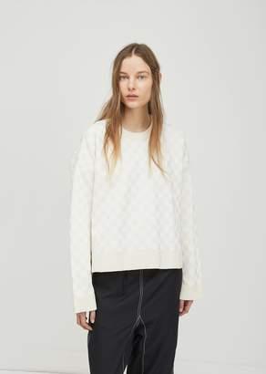 Paco Rabanne Oversized Jacquard Sweater Ice White Sand
