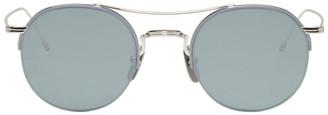 Thom Browne Silver TB 903 Sunglasses $575 thestylecure.com