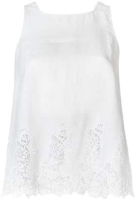 Ermanno Scervino sleeveless lace-trimmed top