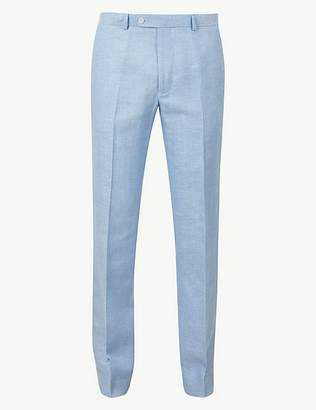 Marks and Spencer Regular Fit Linen Trousers