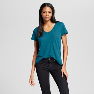 Women's V-Neck Tee with Pocket - Mossimo $12 thestylecure.com