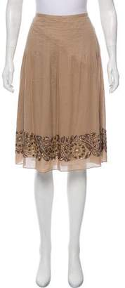 Magaschoni Embellished Knee-Length Skirt
