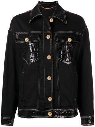 Versace Mock Croc denim jacket