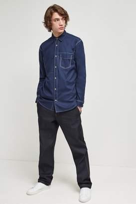 French Connenction Indigo Overwashed Poplin Shirt