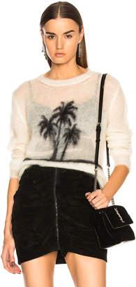 Saint Laurent Sunset Print Mohair Sweater