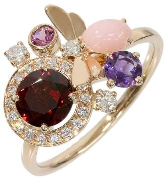 Chaumet 18K Pink Gold Attrape-moi Diamond Multi Stone Ring Size 10.75