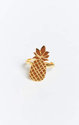 Show Me Your Mumu Gold Plated Pineapple Ring ~ Gold