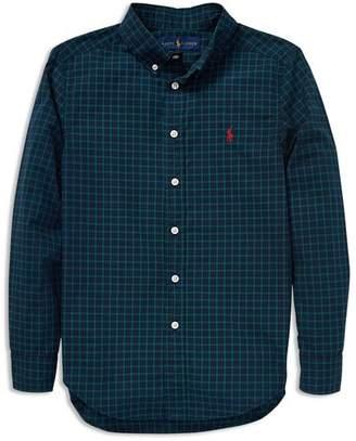Ralph Lauren Boys' Poplin Flannel Shirt - Big Kid
